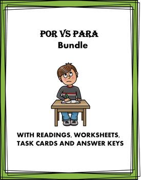 Spanish Por and Para Bundle