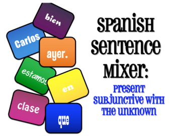 Spanish Bundle:  Present Subjunctive With the Unknown