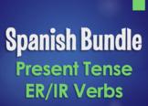 Spanish Present Tense Regular ER and IR Bundle