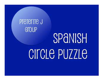 Spanish Bundle:  Preterite Tense J Group Verbs