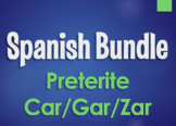 Spanish Preterite Car Gar Zar Bundle