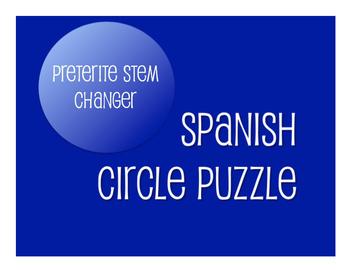 Spanish Bundle:  Preterite Tense Stem Changer Verbs
