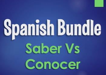 Spanish Bundle: Saber Vs Conocer