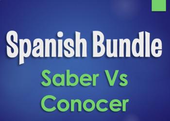 Spanish Bundle: Saber Vs Conocer