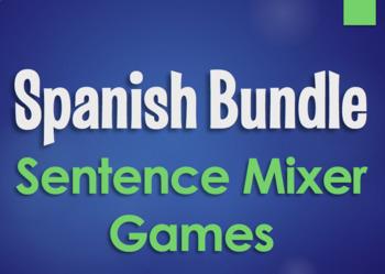 Spanish Bundle:  Sentence Mixer Games