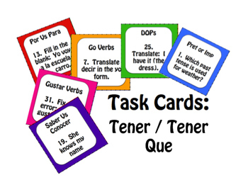 Spanish Bundle:  Tener and Tener Que