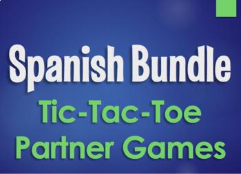 Spanish Bundle:  Tic Tac Toe Partner Games