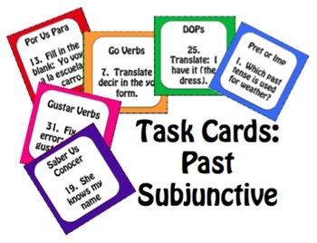 Spanish Bundle:  Verb Conjugation Task Cards