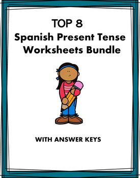Spanish Verb Worksheets Bundle ~ Test Prep ~ Year End ~ Ba
