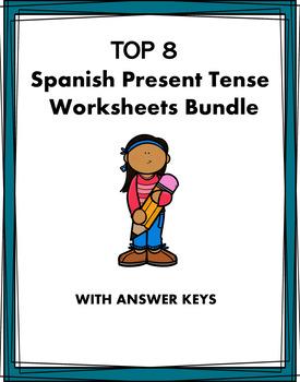 Spanish Verbs Worksheets Bundle - presente, futuro, imperfecto, preterito
