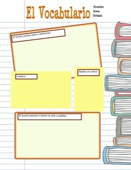 Spanish Bundle:  Vocabulary Activities