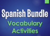 Spanish Bundle:  Vocabulary Activities