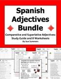 Spanish Bundle of 9 Comparative and Superlative Adjectives