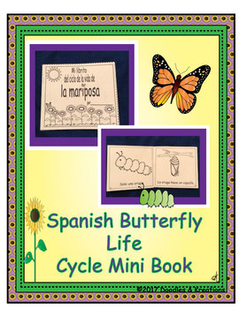 Spanish Butterfly Life Cycle Mini Book