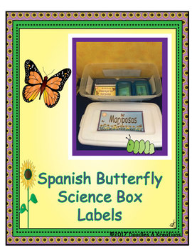 Spanish Butterfly Science Box Labels