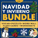 Spanish CHRISTMAS BUNDLE (Navidad & Invierno) Puzzles, Fla