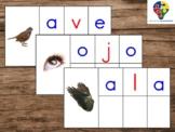 Spanish CVC, CVV, VCV, Word Building Mats (Montessori)