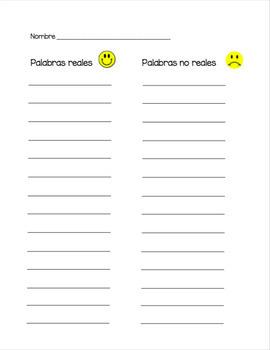 Spanish - CVC Words Roll a Word