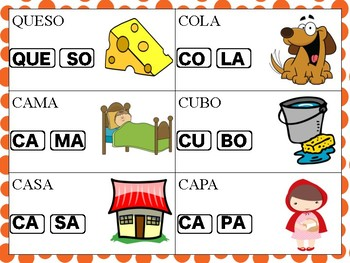 Spanish CVC and CVCV Words for Children with Apraxia