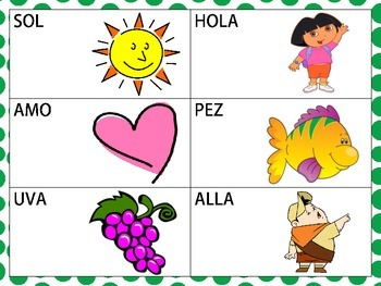 Functional Spanish CVC and VCV Words