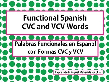 Functional Spanish CVC and VCV Words