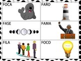 Spanish CVCV & Blend Words with the /f/ Sound in the Initi