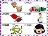 Spanish CVCV & CVCVCV Words with /ch/ Sound in the Initial