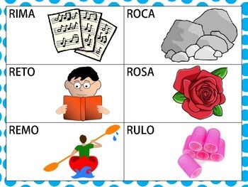 Spanish CVCV Words with Trilled (Rolled) /r/ Sound in the Initial Position