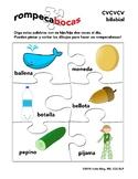 Spanish CVCVCV initial bilabial consonants articulation word list