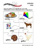 Spanish CVCVCV initial velar consonants articulation word list