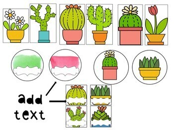 Spanish Cactus Bulletin Set