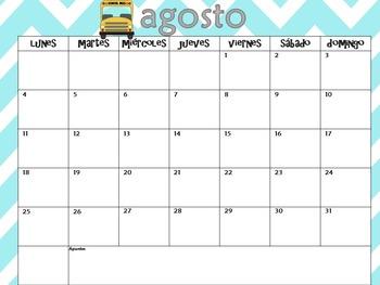 Spanish Calendar 2014-2015