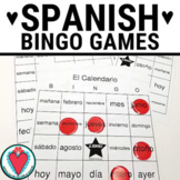 Spanish Games - Spanish Days of the Week & Month Vocabulary Bingo