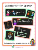 Spanish Calendar Bulletin Board Kit Printable