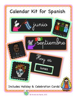 Spanish Calendar Bulletin Board Kit Printable