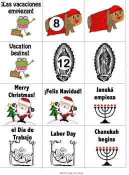 Spanish Calendar Bulletin Board Set