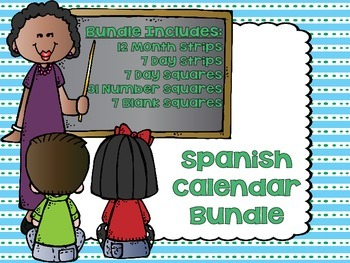 Spanish Calendar Bundle (Days, Months, 1-31) / Español Calendario (Días, Meses)