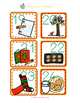 Spanish Calendar Cards for December with Christmas Theme