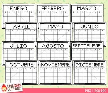 Spanish Calendar Clip Art