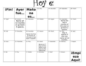 Spanish Calendar Game
