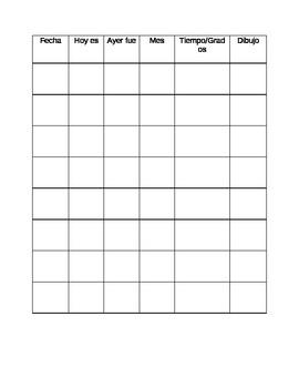 Spanish Calendar Graph- #2