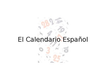 Spanish Calendar Guided Notes
