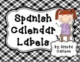 Spanish Calendar Labels