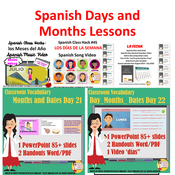 Spanish Calendar Lessons and Musical Videos