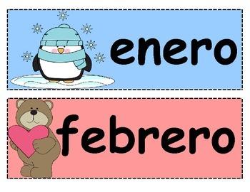 Spanish Calendar Month Headers - Encabezamientos para calendario - Meses del año