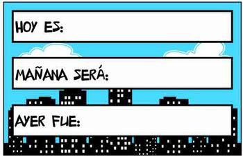 Spanish Calendar Package - Superhero Theme