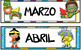 Spanish Calendar Package - Superhero Theme