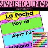 Spanish Calendar Pieces - Calendario en Espanol
