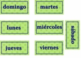 Spanish Calendar Pieces  (months and days)