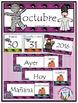 Spanish Calendar Pocket Chart Bundle for Fall